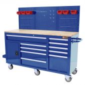 George Tools Mobiele Werkbank 62 inch 10 laden Blauw
