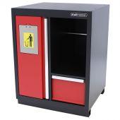 Kraftmeister prullenbak met papierrolhouder Premium rood