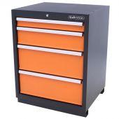 Kraftmeister gereedschapsladekast 4 lades Premium oranje