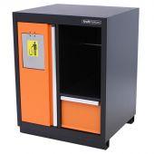 Kraftmeister prullenbak met papierrolhouder Premium oranje