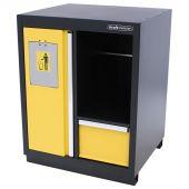 Kraftmeister prullenbak met papierrolhouder Premium geel