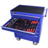 George Tools gereedschapswagen gevuld 7 lades 80 delig blauw