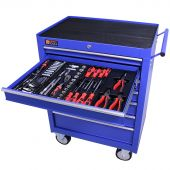 George Tools gereedschapswagen gevuld 7 lades 144 delig blauw