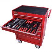 George Tools gereedschapswagen gevuld 7 lades 144 delig rood