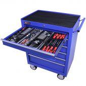 George Tools gereedschapswagen gevuld 6 lades 209 delig blauw
