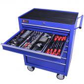 George Tools gereedschapswagen gevuld 7 lades 209 delig blauw