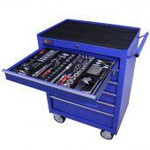 George Tools gereedschapswagen gevuld 6 lades 253 delig blauw