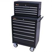 George Tools gereedschapswagen met kist 13 laden zwart