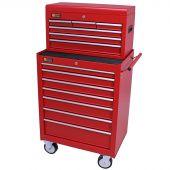 George Tools gereedschapswagen met kist 13 laden rood