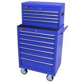 George Tools gereedschapswagen met kist 11 laden blauw