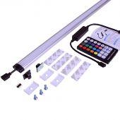 Kleuren LED lamp voor werkbank met gereedschapswand Pro 180 cm