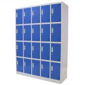 Kraftmeister lockerkast 20 deuren blauw