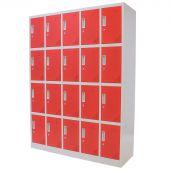 Kraftmeister lockerkast 20 deuren rood