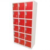 Kraftmeister lockerkast 18 deuren rood