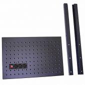 Kraftmeister gereedschapswand halfhoog met stopcontact Premium / Pro zwart