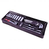 George Tools inlay 0 - Ratel en doppenset 61 delig