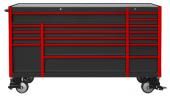 Kraftmeister gereedschapswagen Everest 72 Industrial zwart/rood- 17 laden