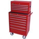 George Tools gereedschapswagen met kist 11 laden rood
